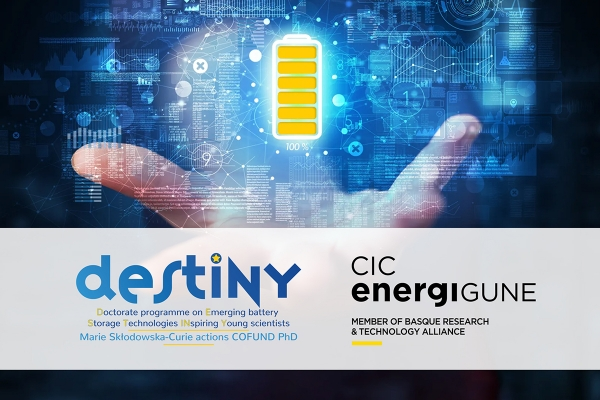"CIC energiGUNE achieves 3 ""DESTINY"" doctoral scholarships to train in Vitoria-Gasteiz the next generation of battery scientists"