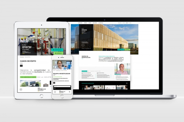CIC energiGUNE revamps its website as a meeting point for research, business and talent