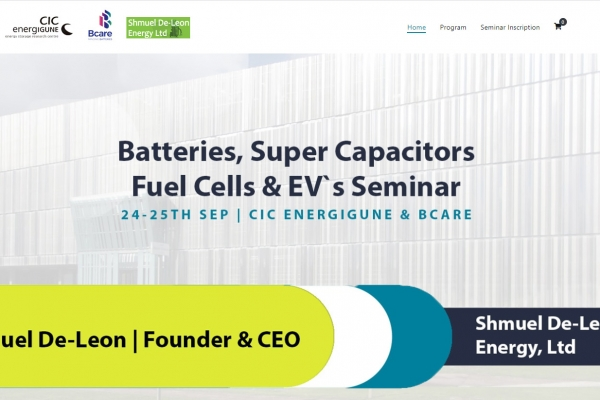 CIC energiGUNE and Bcare organise an advanced seminar in batteries with the specialist Shmuel De-Leon
